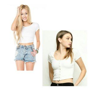 SET OF 2 Brandy Melville Crop Tops